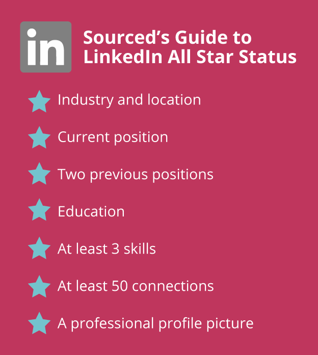 Sourced guide to LinkedIn All Star Status - Sourced