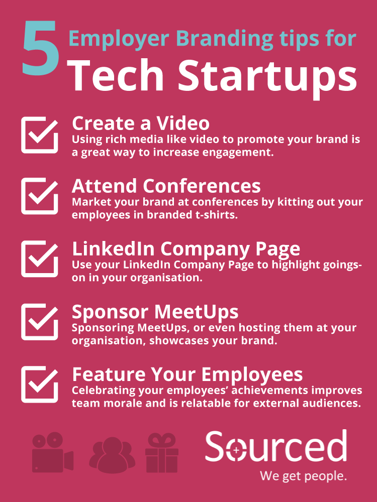 5 Employer Branding Tips for Tech Startups - Sourced Christchurch IT Recruiters