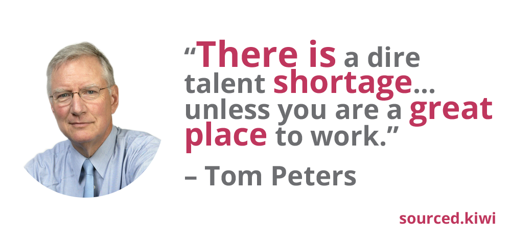 Tom Peters Quote - What Talent Shortage? | Sourced: Christchurch IT Recruitment
