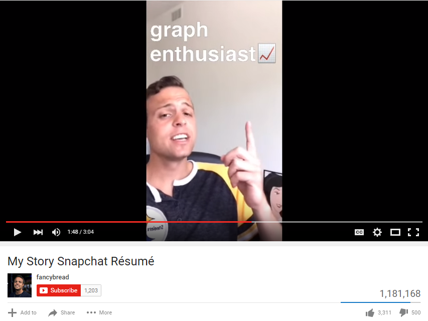 Snapchat Resume Screenshot - Sourced: Christchurch IT Recruitment